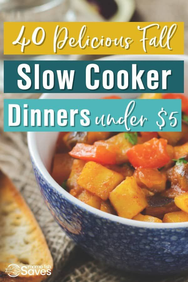 40 Delicious Crock Pot Dinners Under 5 Fall Crockpot Recipes