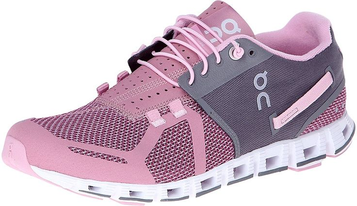 """Best shoes to wear for elliptical and similar gym machines are running shoes or cross trainers. """"On-Running Cloud Charcoal/Rose - Sole Provisions"""""""
