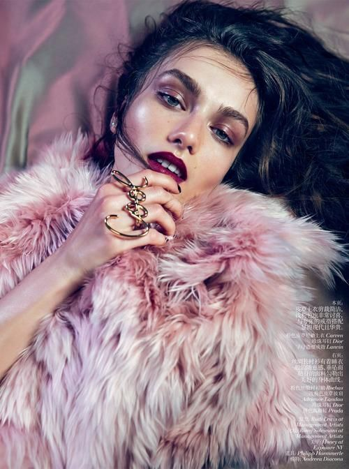 awesome Pink Fur #editorial #backtofall...
