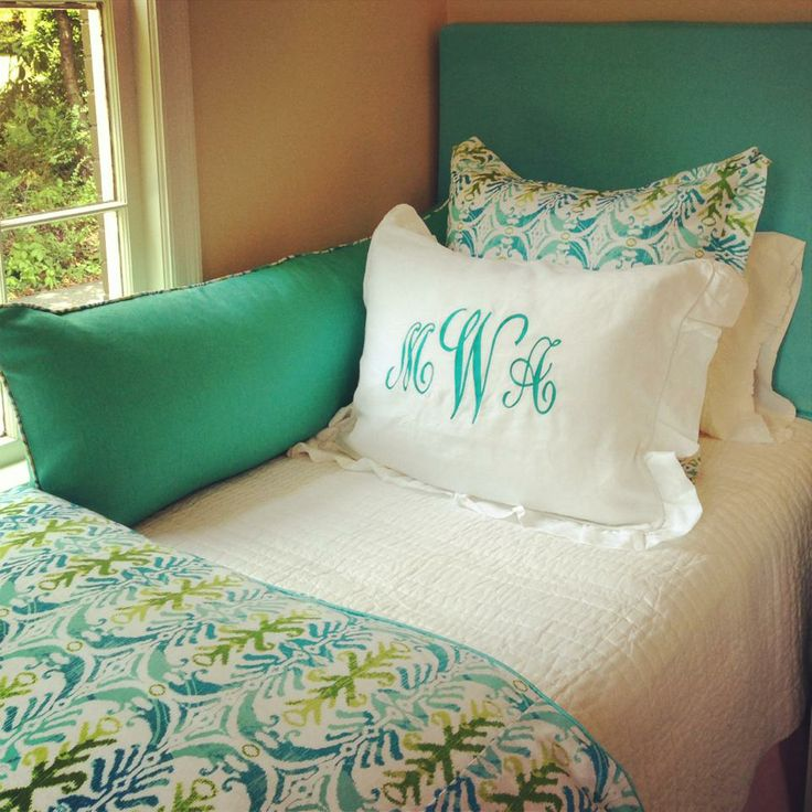 Ikat teal aqua turquoise lime pattern mongram green for Lime green and turquoise bedroom
