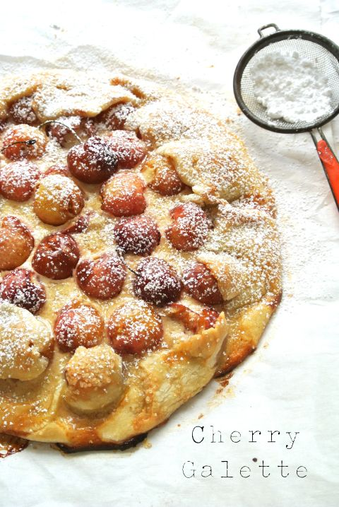 "A ""Cherry Galette"" made with fresh Rainier Cherries."