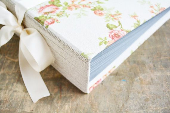 Extra Large Rustic Photo Album Spring Wedding Guest by Albumeria