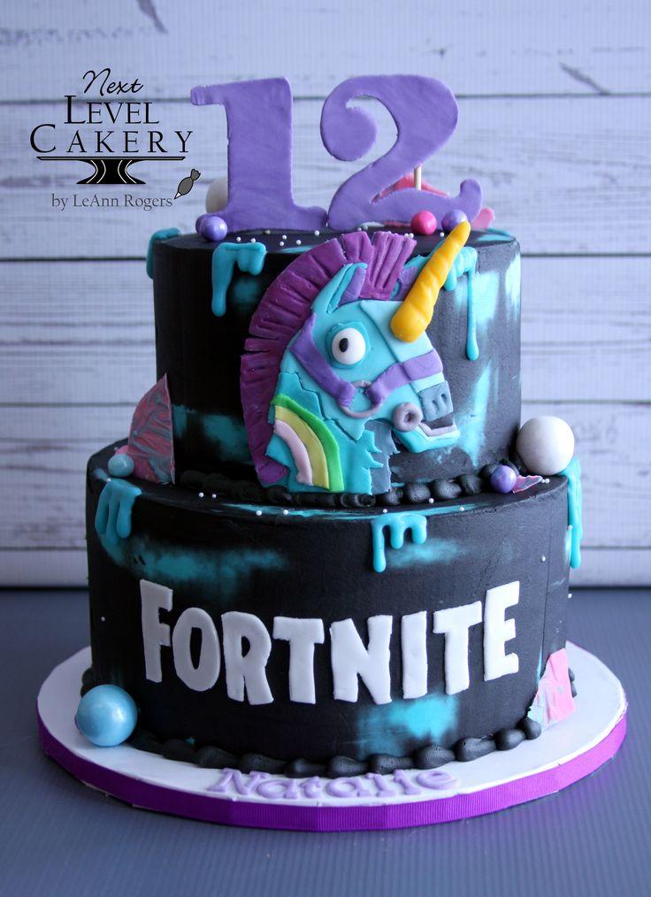 Fortnite cake, unicorn llama, drip cake, girl fortnite ...