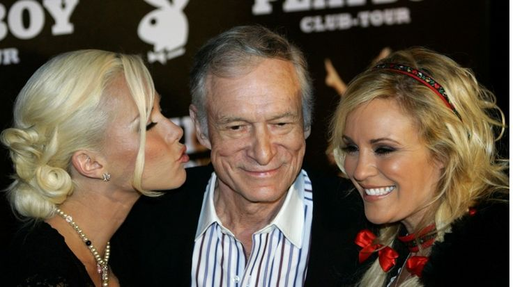 Playboy magazine founder Hugh Hefner arrives with girlfriends Kendra Wilkinson (left) and Bridget Marquardt for his 80th birthday party in Munich's famous club P1 in 2006. Photo: ReutersPlayboy founder Hugh Hefner, hedonistic symbol of sexual revolution, dead at 91.