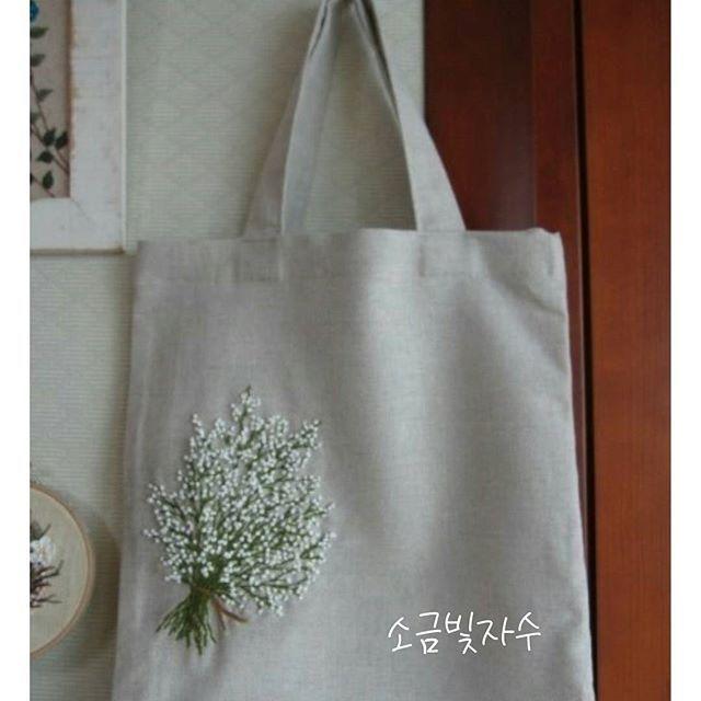 #Common_Gypsophila #linen #embroidery