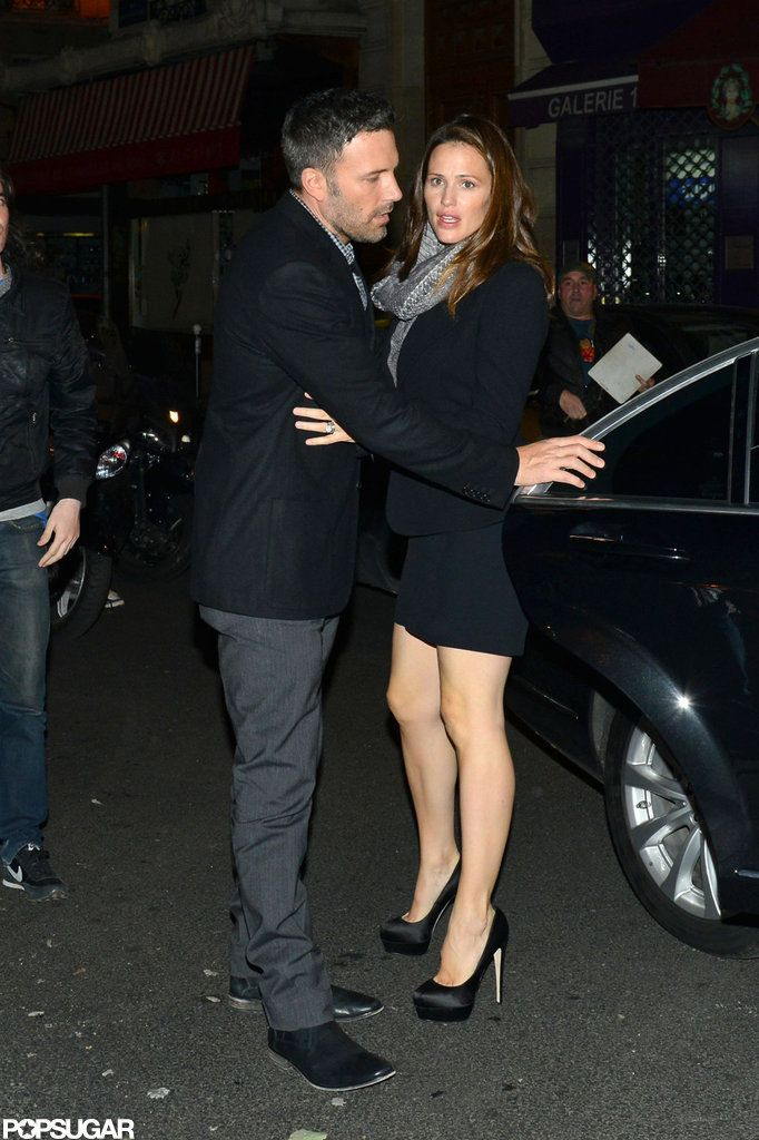 Ben Affleck and Jennifer Garner in Paris. There's no hope for any of us if they can't make it!!