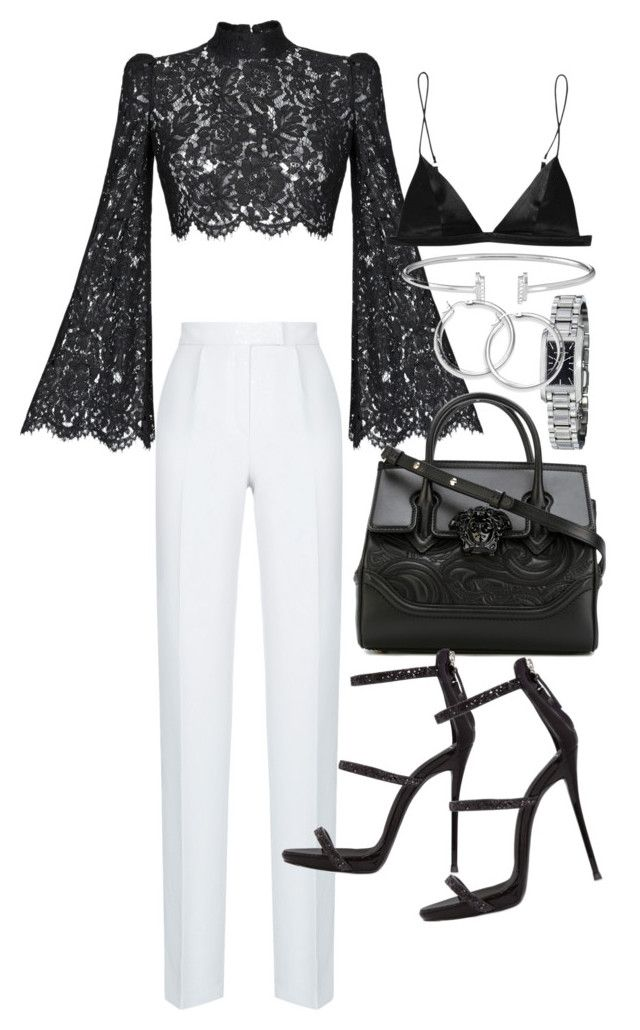 """Untitled #22149"" by florencia95 ❤ liked on Polyvore featuring Rasario, Versace, Giuseppe Zanotti, T By Alexander Wang and Burberry"