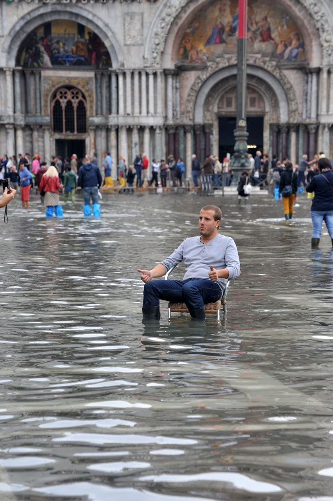 Venice flood. The government don´t care anymore about this place because it´s sinking and every year more and more habitants are leaving this island. Whitin 10 years it wouldn´t have any residents anymore and will become just an open air museum! Sad but true(((