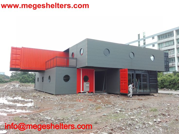 Mege Container House, Modified From 40`HQ Shipping Container, More Products  Www.