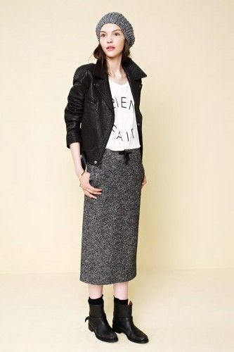 Madewell's Fall Lookbook Brings Back Shearling Zip-Ups - makes me excited for fall fashion - love this look