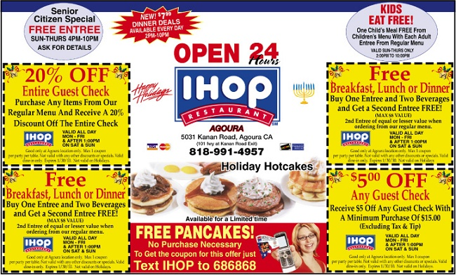 photograph relating to Ihop Printable Menu identified as Ihop coupon codes 2018 canada - Present-day focus present card specials