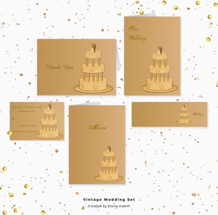 #Zazzle - Romantic Wedding Set in vintage effect.Texts are totally customizable as well you prefer.