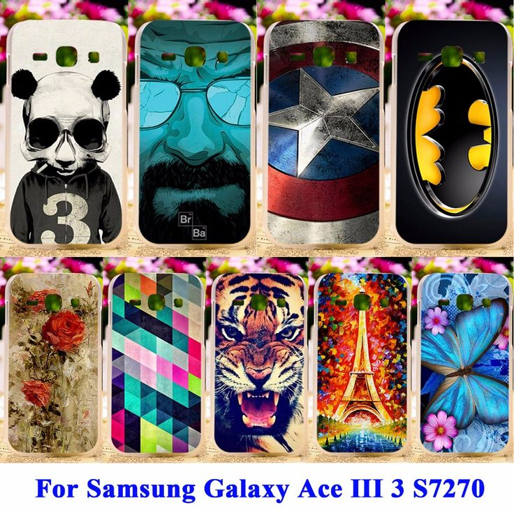 Soft TPU & Hard PC Cell Phone Covers For Samsung Galaxy Ace III 3 Cases S7270 S7272 ACE3 Housing Covers Skin Durable Shell Hood