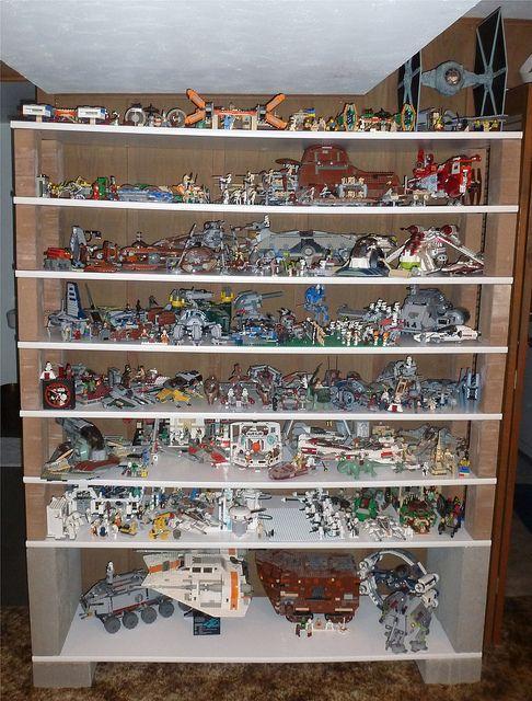 Updated Star Wars Lego Shelves