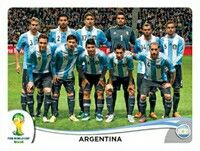 Panini Mundial 2014 # 413 Equipo Argentina - Argentina