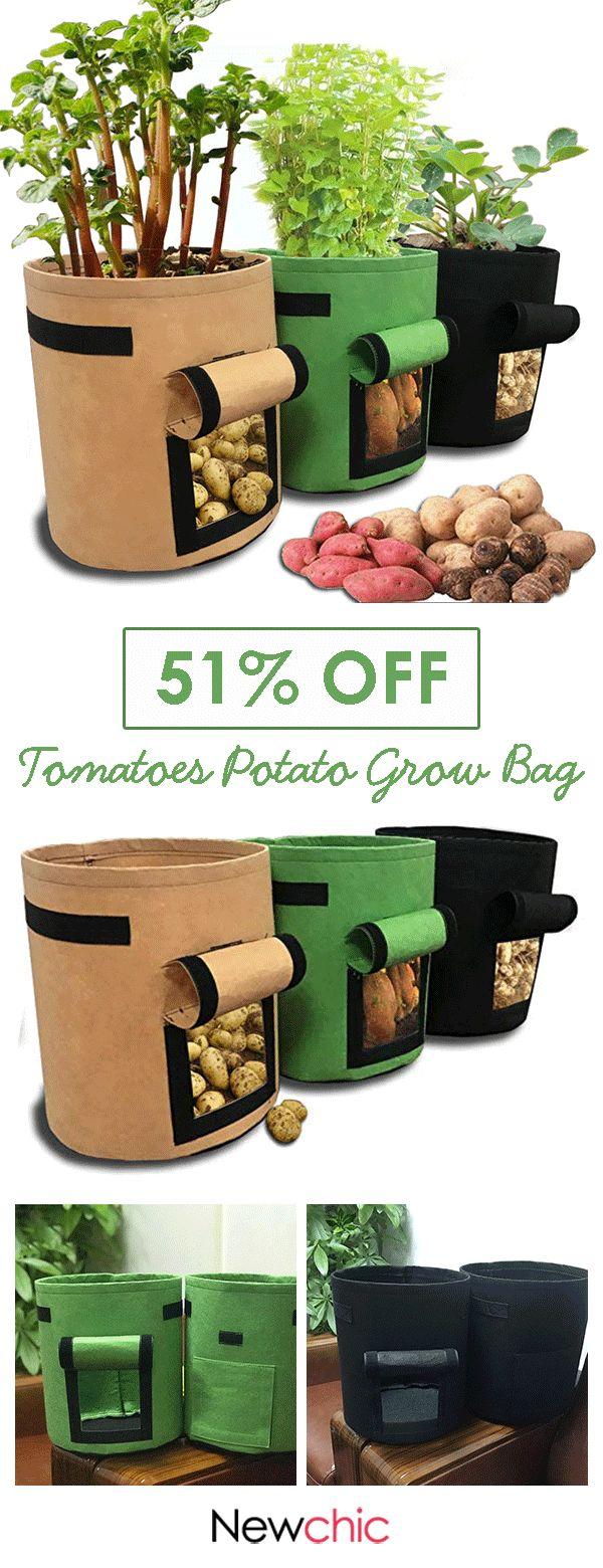 【51% off】Tomatoes Potato Grow Bag with Handles Flowers Vegetables Planter Ba… – Pflanzen