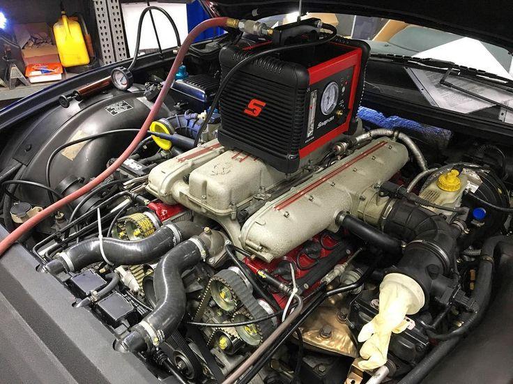 Ferrari 550 smoke test after engine service. This allows us to find any vacuum leaks. @snapon_official  #Bradan #bradangroup #ferrari #scuderiaferrari #ferrariworld #ferrari550 #550 #550maranello #v12 #carswithoutlimits #performance #horsepower #gentleman #bespoke #shark #mechanic #autobody #bodyshop #bmw #porsche #bentley #lamborghini #rollsroyce #manhattan #hamptons #nyc #detailersofinstagram #snapon #tools #autobody #bodyshop #entrepreneur