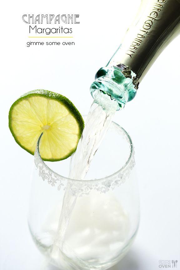 Sparkling Margaritas (Champagne Margaritas) | gimmesomeoven.com