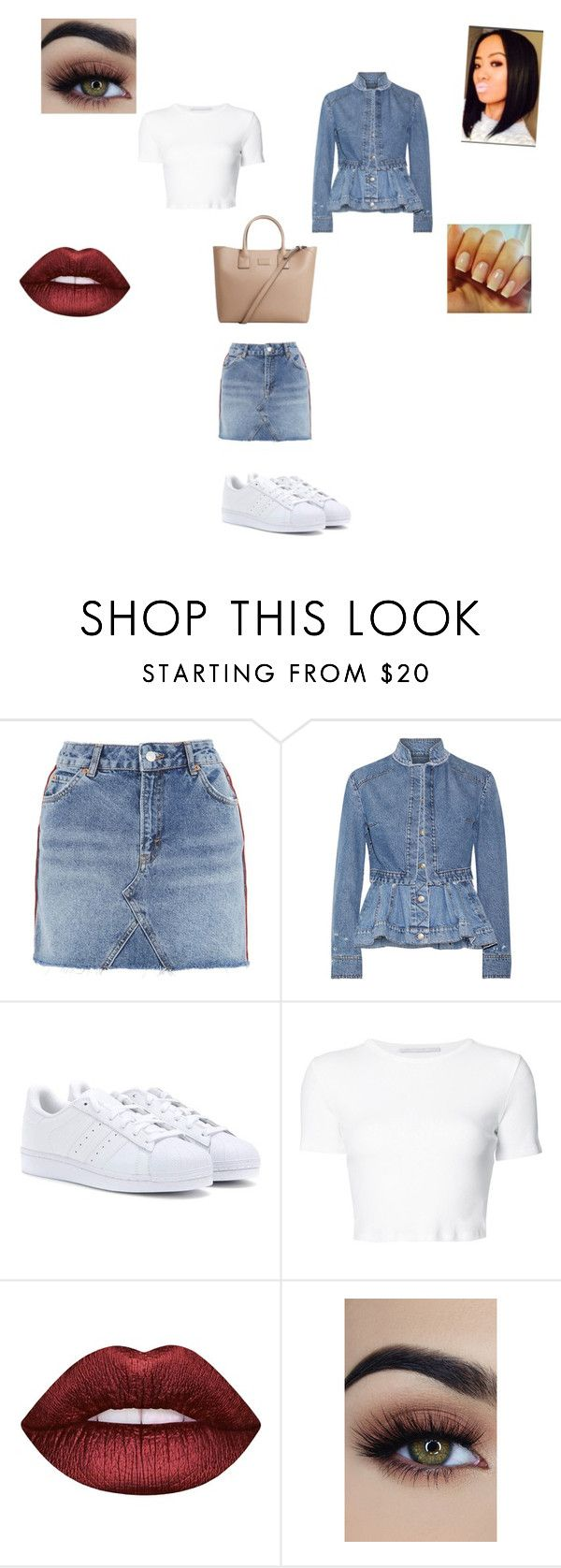 """""""My style"""" by hazelwoodnaomi on Polyvore featuring Topshop, Alexander McQueen, adidas, Rosetta Getty, Lime Crime and MANGO"""