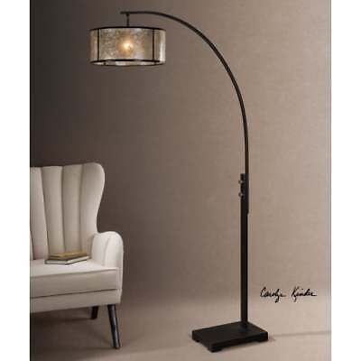 "Uttermost 28597-1 Cairano 1 Light 80"" Tall Floor Lamp with Brown Metal Shade"
