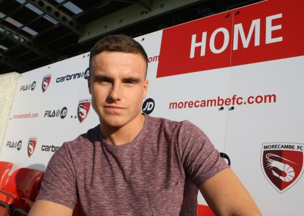 Young Morecambe defender Will Bell has joined Evo-Stik First Division North side Kendal Town on a month's loan