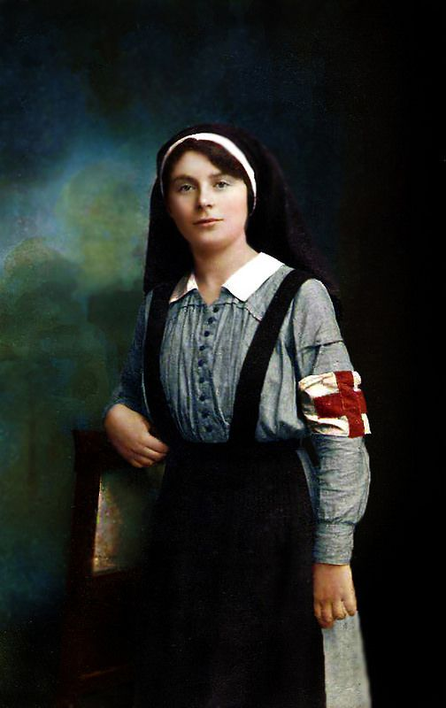 RUSSIAN NURSE WW1. BEAUTIFULLY COLOURISED PHOTOGRAPHTHE HOKEY POKEY MAN AND AN INSANE HAWKER OF FISH BY CONNIE DURAND. AVAILABLE ON AMAZON KINDLE