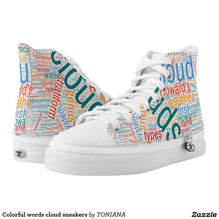 Colorful words cloud sneakers