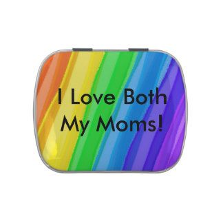 I Love BOTH My Moms!  You Can Customize ALL Text - Jelly Belly Tins