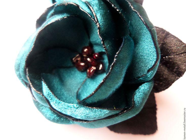 """Купить """"В синем цвете"""" - пара резинок с большими цветами - пара резинок, пара цветов"""