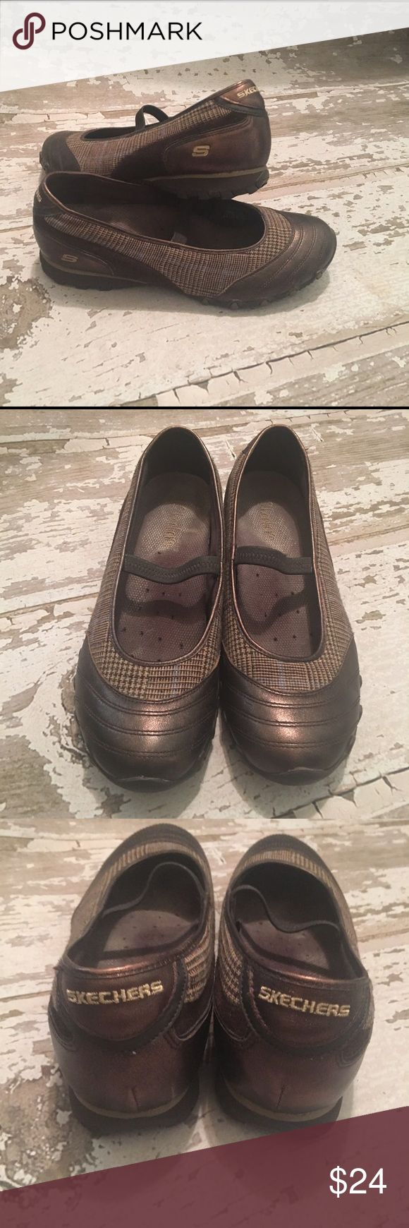 💫New Listing💫Skechers Sneakers Size 9 Gently Preloved Size 9 Skechers; Mary Jane Flats. Plaid Bronze/Brown/Cream colors. Perfect for Fall 🍂🍁 No Box Included. Remember to Bundle & Save.🛍💕🌟 Skechers Shoes Flats & Loafers