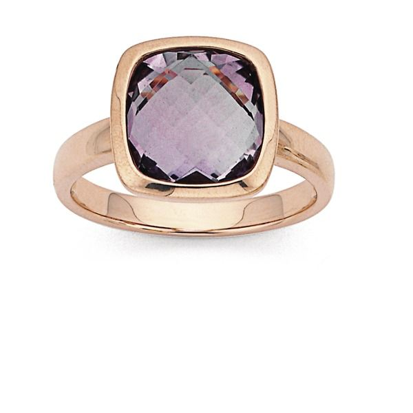 9ct Rose Gold Amethyst Cocktail Ring