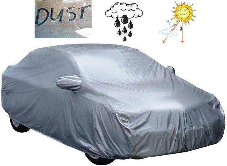 #AutoCarWinner #Car #Cover For #Honda #Amaze (With Mirror #Pockets)  (Grey)
