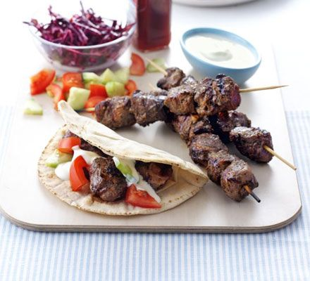 Make a big batch of these delicious Greek kebabs, then freeze some for a sunny day