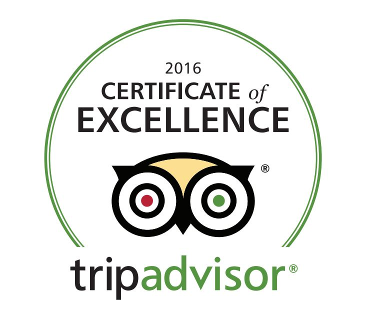 DANTE'S PIZZERIA AND STEAKHOUSE EARNS 2016 TRIPADVISOR CERTIFICATE OF EXCELLENCE