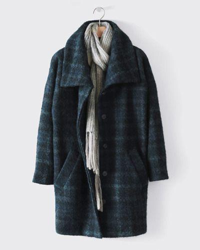 Woollen Cocoon Coat by Poetry