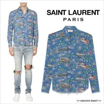 ●人気●16-2017●Saint Laurent ハワイアン カープリントシャツ サンローラン 2016-2017 ファッション