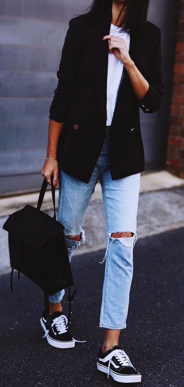 100 Cute Spring Outfits With Sneakers 2020 With Images Classy