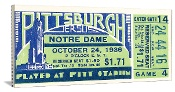 1936 Notre Dame vs. Pitt Football Ticket Art. Best football gift! http://www.bestfootballgift.com/ #47straight #christmasgifts