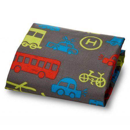 Where The Polka Dots Roam Crib Sheet for Baby and Kids Bedding - Multi-Color - Transportation - Walmart.com