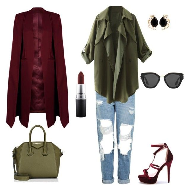 """""""Lazy friday"""" by emka-kruta on Polyvore featuring Topshop, WithChic, Givenchy, Prada, Bounkit and MAC Cosmetics"""