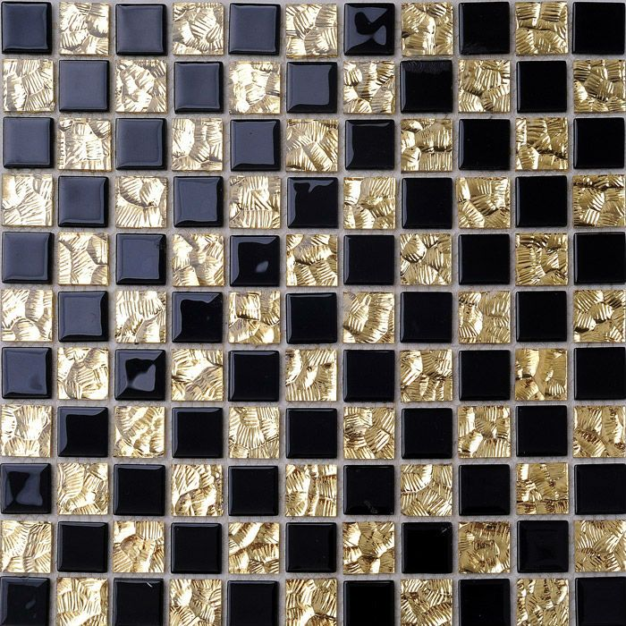 Sheet Size 300mmx300mm Thickness 5mm Collection Glass Mosaic Tiles Application Bathroom Wal Black And Gold Bathroom Mosaic Glass Glass Backsplash Kitchen
