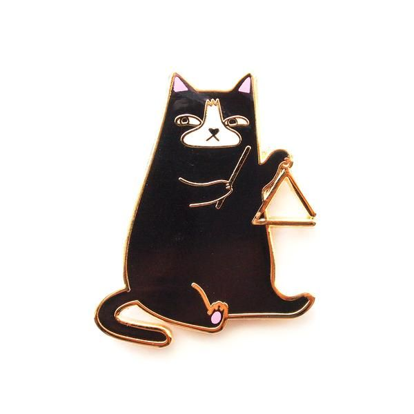 Triangle Cat Enamel Pin
