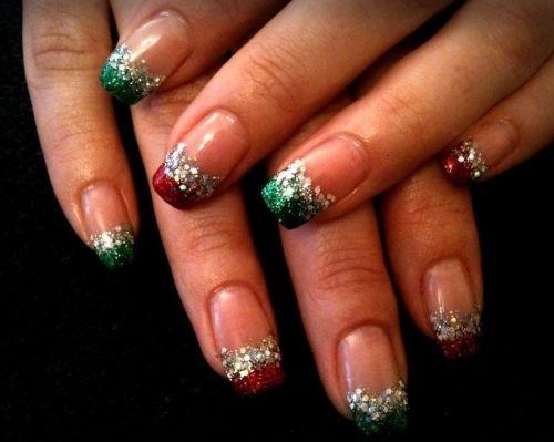 Simply elegant Christmas nails
