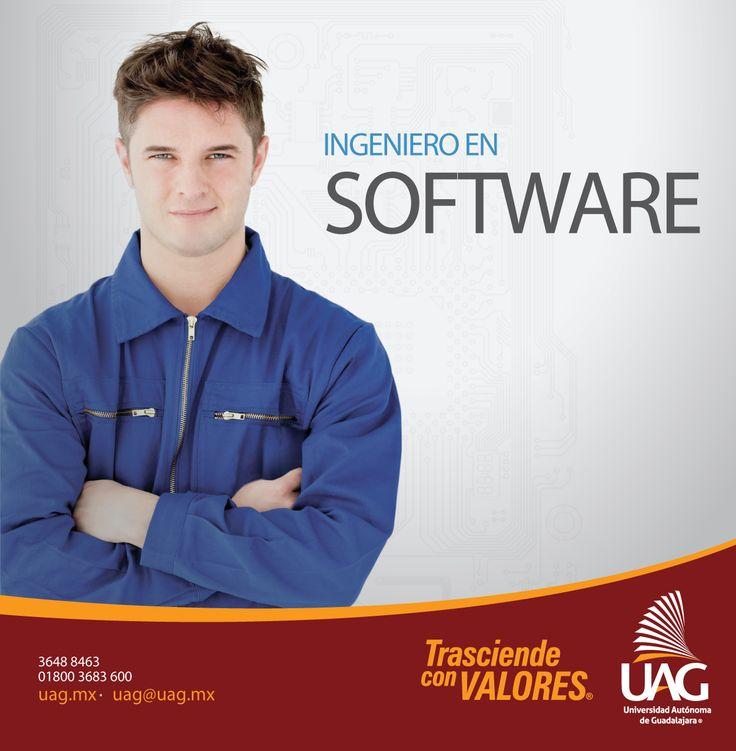 Un ingeniero en Software de #UAG cuenta con el conocimiento en las tecnologías de desarrollo y aplicación de software podrá crear una nueva empresa o laborar para una importante empresa de TI.