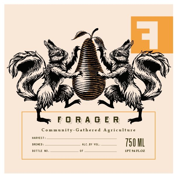 All sizes   Fullsteam Brewery - Forager Label