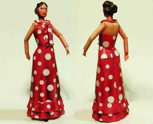 Valentina - Italian Paper Doll - by Zio Prudenzio - Boneca Italiana - Here is Valentina, a really beautiful paper doll, by Italian designer Fabrizio Prudenziati, from Zio Prudenzio website.