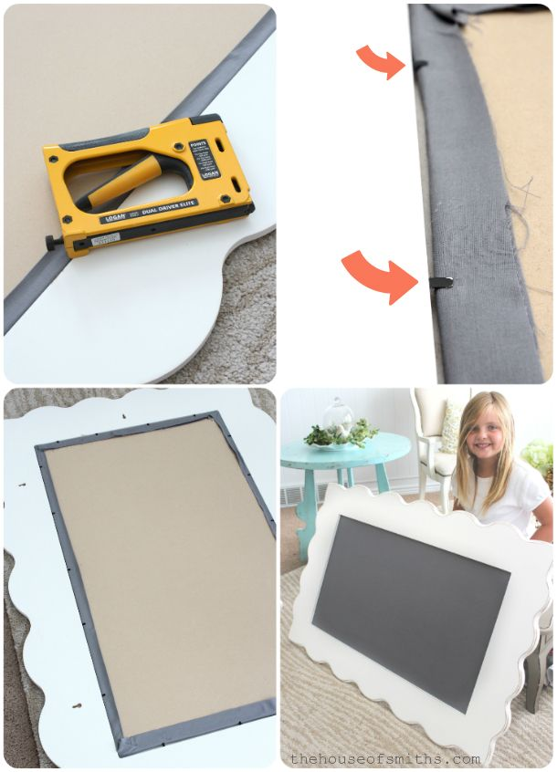 So easy and awesome! Fabric pin board! So many options