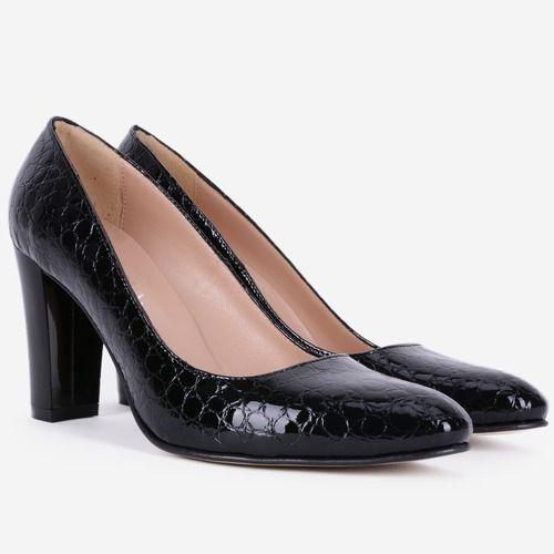 Pantofi din piele naturala negri Annick