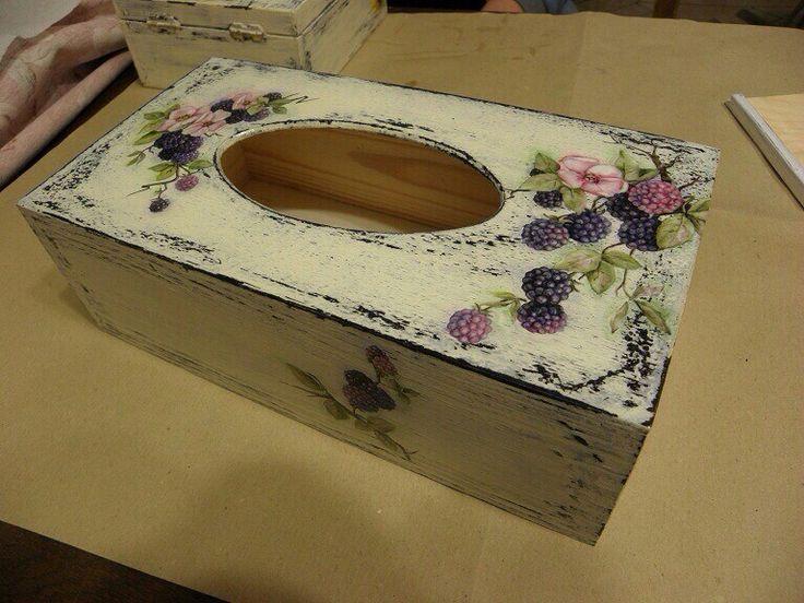 Decoupage tissue box