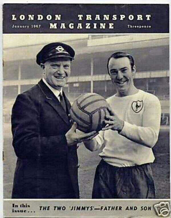 Jimmy and his Dad on the Front London Transport Magazine | Tottenham Hotspur Football Club